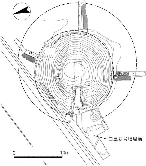 東谷山白鳥古墳 測量図