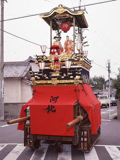 比良祭りの山車行事と二福神車