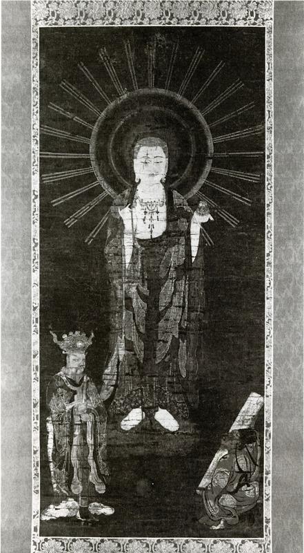 絹本著色地蔵菩薩像