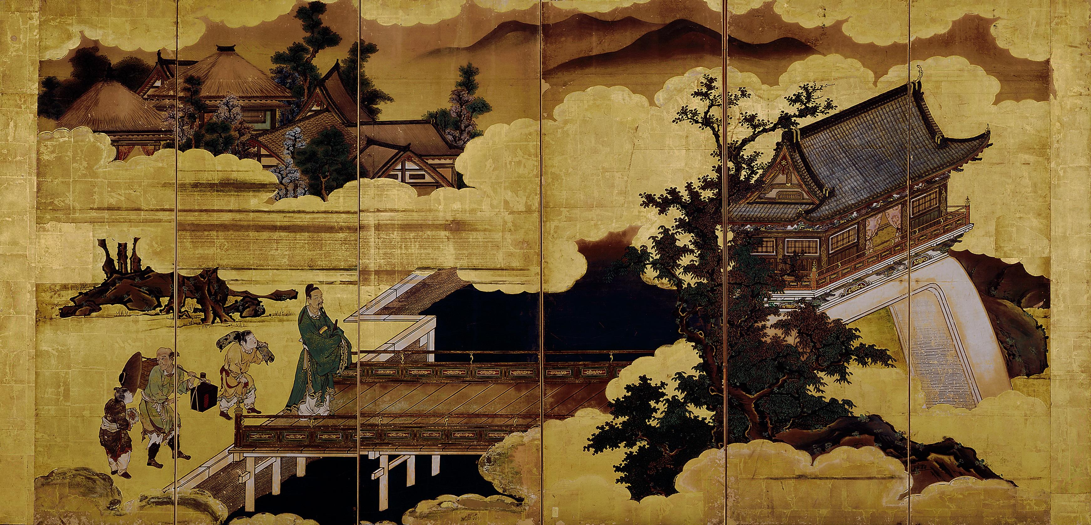 唐人物図屏風