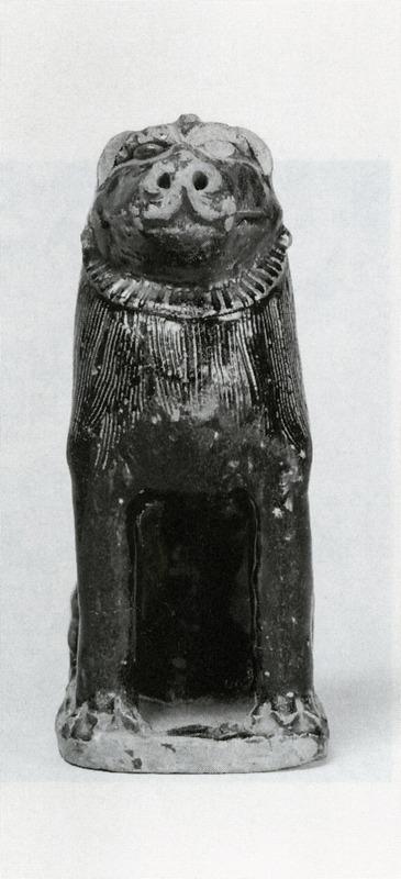 瀬戸 鉄釉狛犬