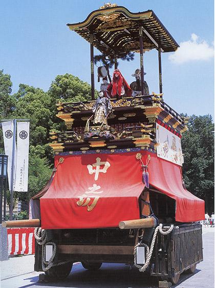 出来町天王祭の山車行事と河水車
