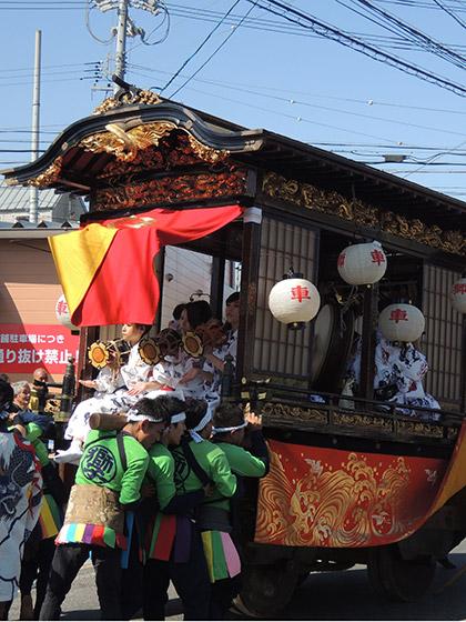 鳴海祭(表方)の山車行事と作町・根古屋・本街・中嶋の山車