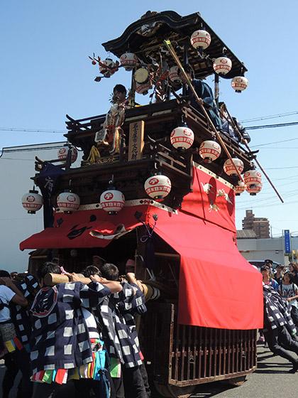 鳴海表方祭りの山車行事と唐子車