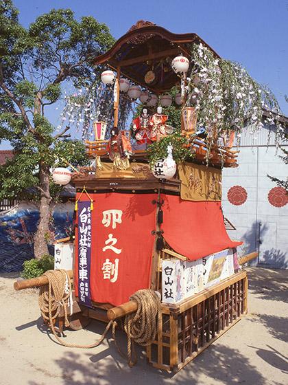 戸田祭りの山車行事と白山社山車