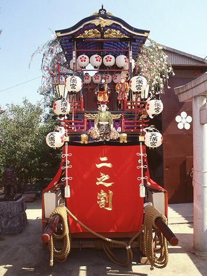 戸田祭りの山車行事と天神社山車